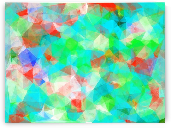 geometric triangle pattern abstract background in blue green orange by TimmyLA
