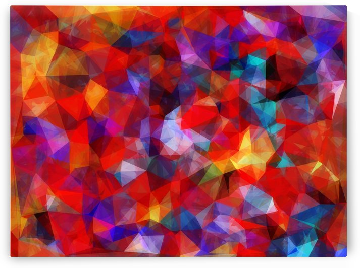 geometric triangle pattern abstract background in red blue yellow by TimmyLA
