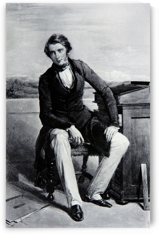 Portrait of John Rusken by John Ruskin