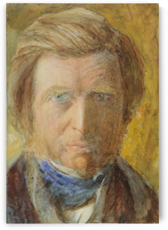 Self Portrait with Blue Neckcloth by John Ruskin