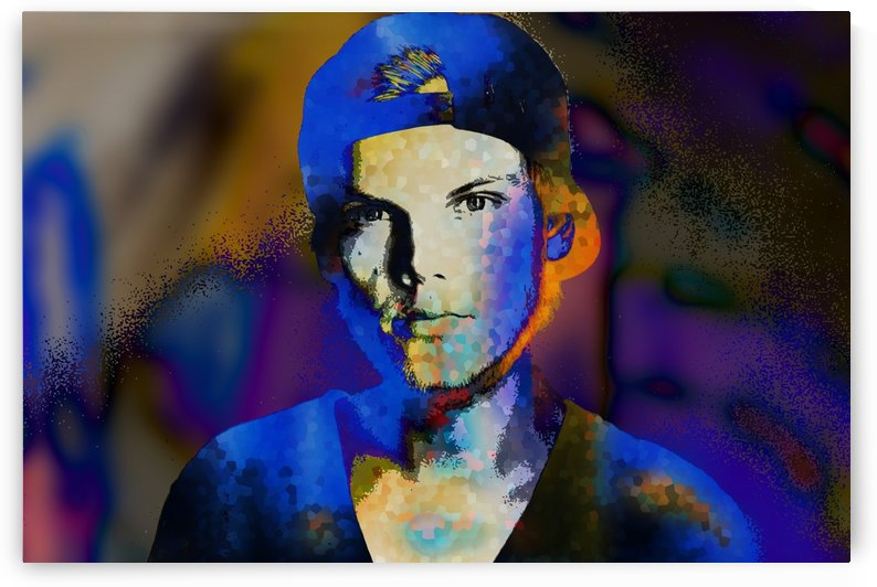 Avicii  Tim Bergling Abstract Portrait by Art By Dominic