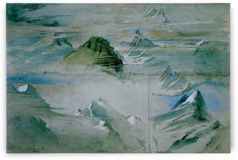 Alpine Peaks Ruskin by John Ruskin