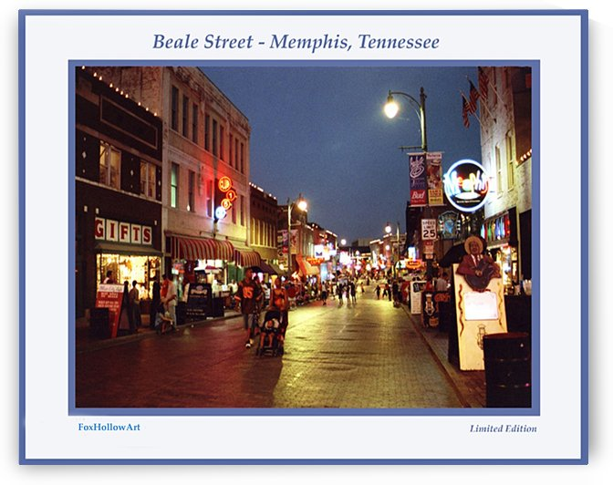 Beale Street At Night by FoxHollowArt