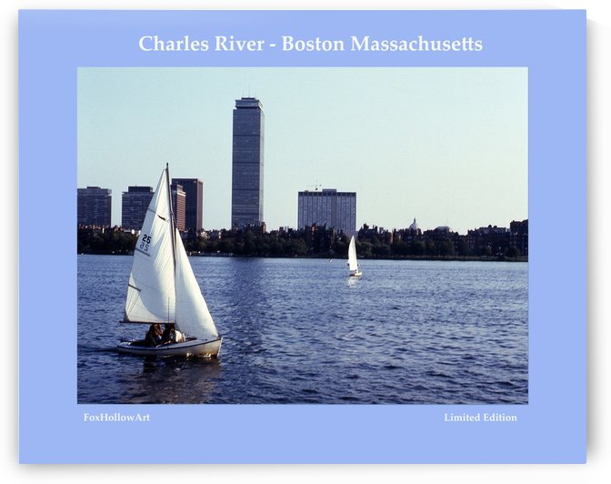 Sailing The Charles River - Boston Massachsuetts by FoxHollowArt