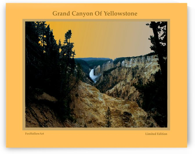 Grand Cayon Of Yellowstone by FoxHollowArt