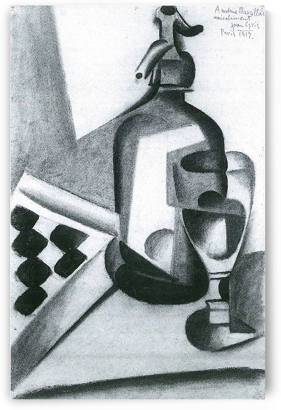 Still Life with Siphon by Juan Gris by Juan Gris