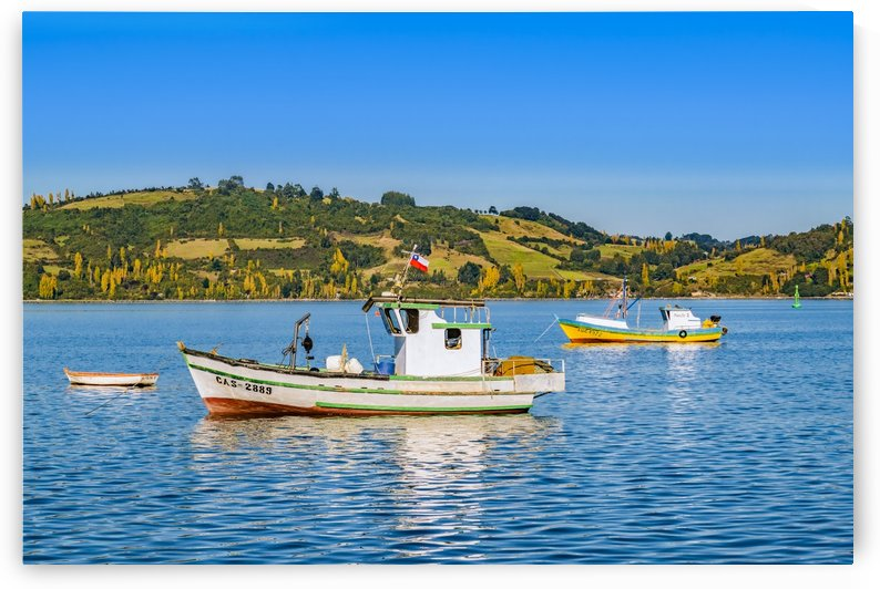 24259801 fishing boats at lake chiloe chile by Daniel Ferreia Leites Ciccarino