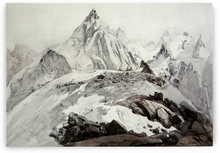 The Aiguille Blaitiere by John Ruskin