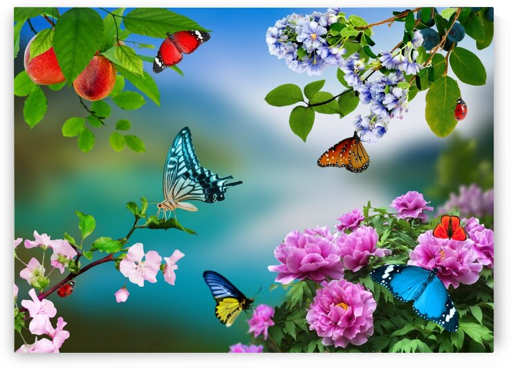 Holiday of life. Butterflies Flowers by Radiy