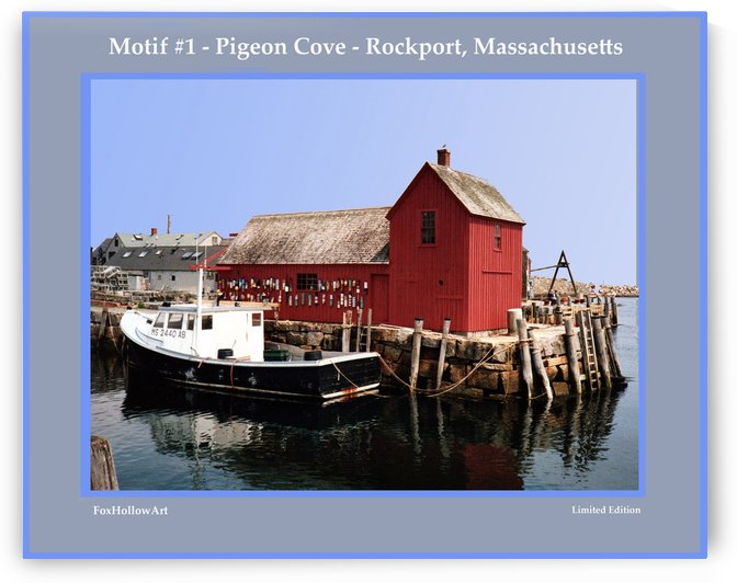 Motif Number One - Rockport Massachsuetts by FoxHollowArt