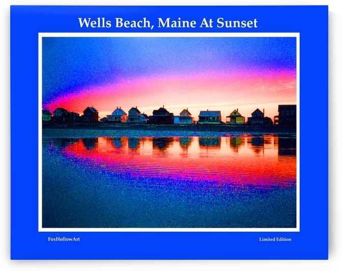 Wells Beach Maine Sunset by FoxHollowArt