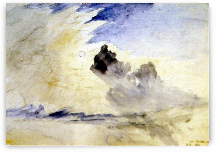Cloud Study over Coniston Water by John Ruskin
