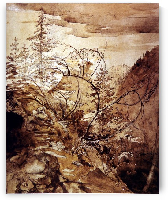 Trees and Rocks by John Ruskin