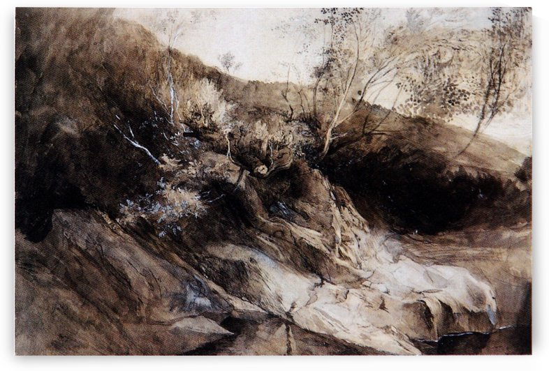 Rocky Bank of a River by John Ruskin