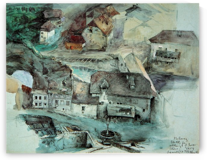 Fribourg Suisse by John Ruskin