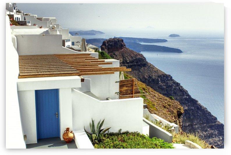 Landscape - Santorini Village by Bentivoglio Photography