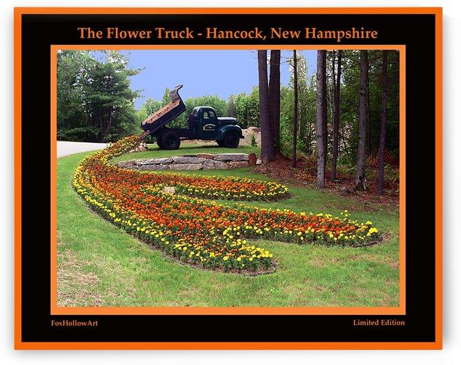 Hancock New Hampshire Flower Truck by FoxHollowArt