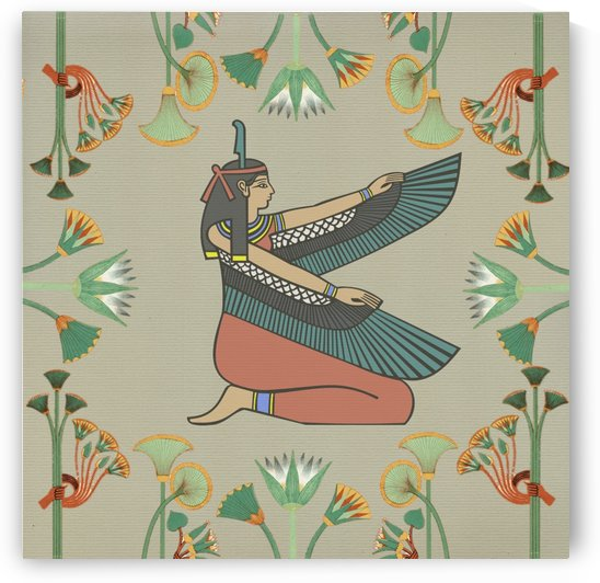 Egyptian woman wings design by Shamudy