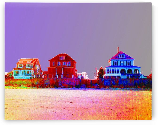 Wells Beach Maine  Abstract  by FoxHollowArt