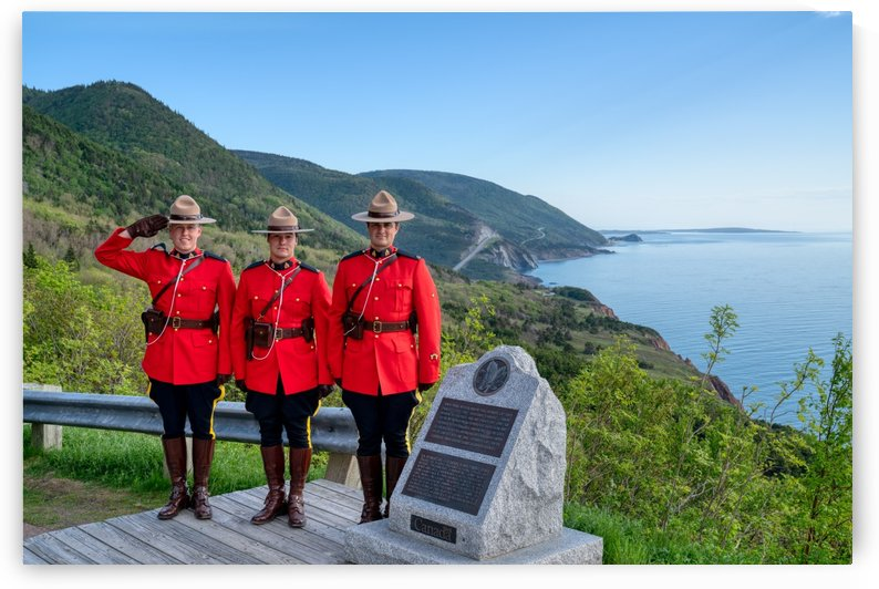 RCMP on French Mountain by Michel Soucy