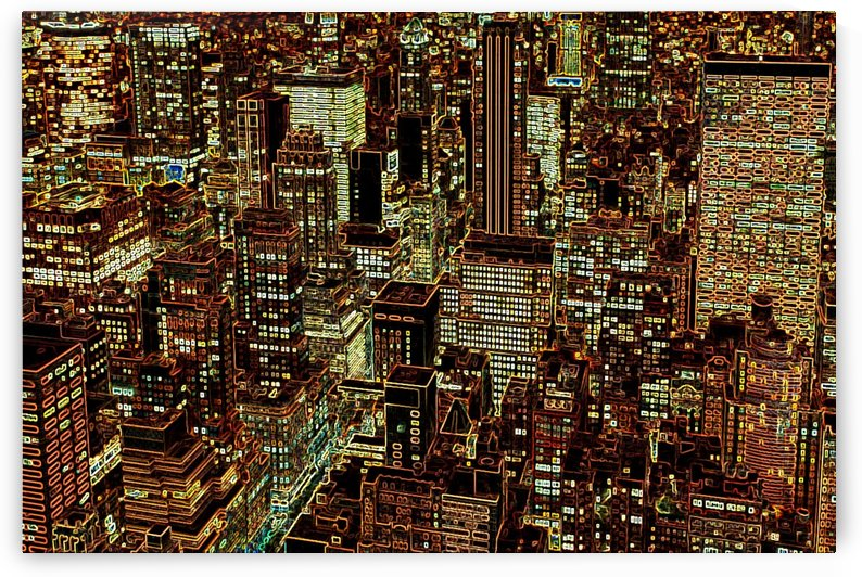 new york city skyscrapers by Shamudy