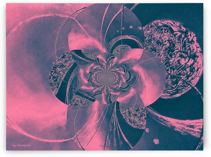 Black And Pink Circular Patterns by Faye Anastasopoulou