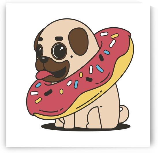 pug donut sweets tasty bun by Shamudy