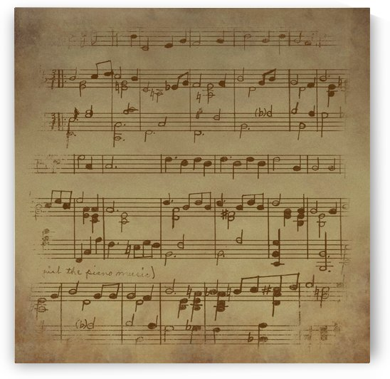vintage sheet music background by Shamudy