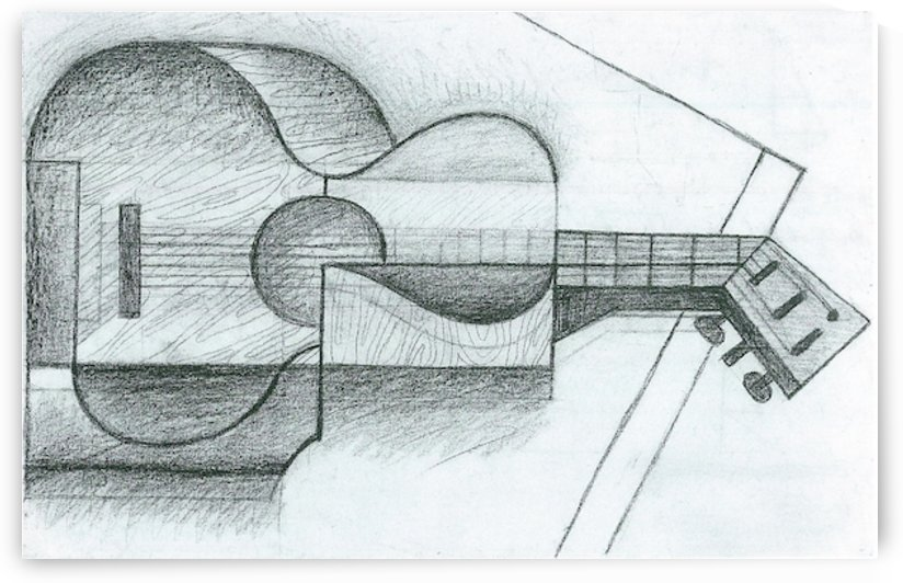 The Guitar by Juan Gris by Juan Gris