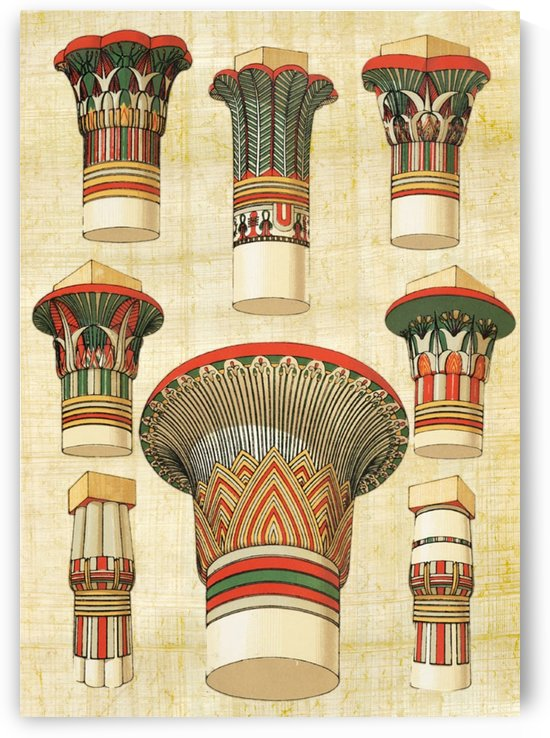 egyptian architecture column by Shamudy