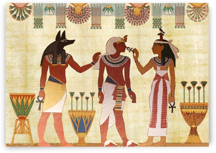 egyptian design man woman priest by Shamudy