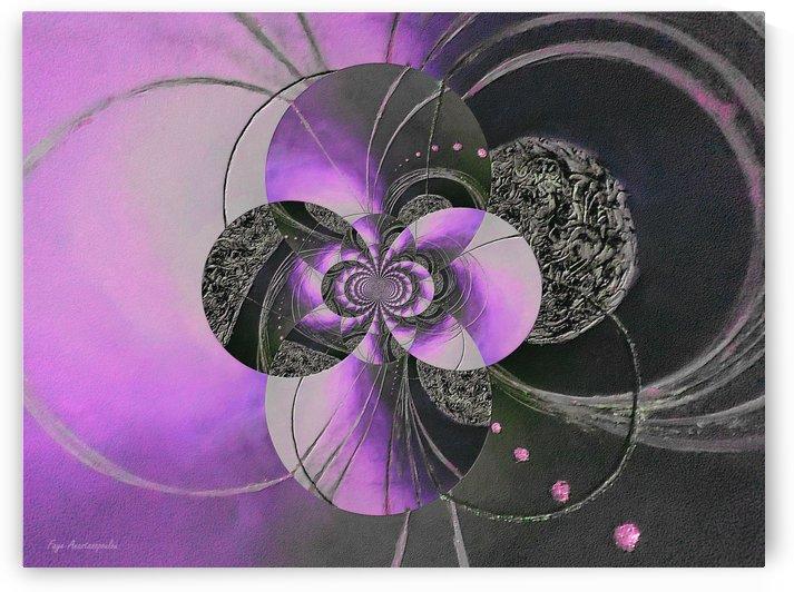 Black And Purple Circular Patterns by Faye Anastasopoulou