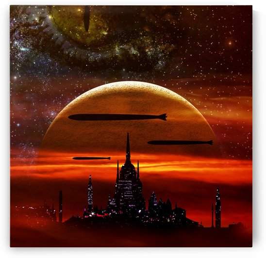 science fiction digital illustration by Shamudy