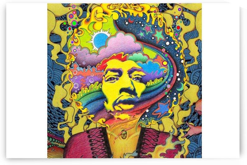 psychedelic rock jimi hendrix by Shamudy