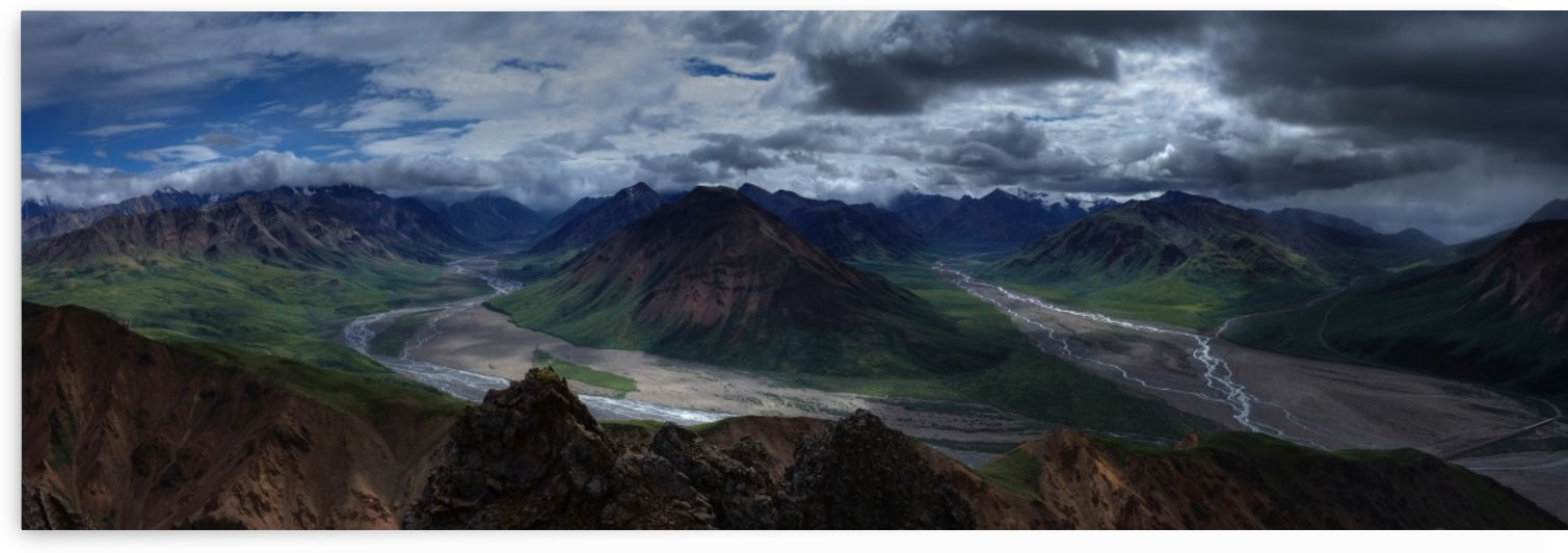 landscape mountains wilderness by Shamudy