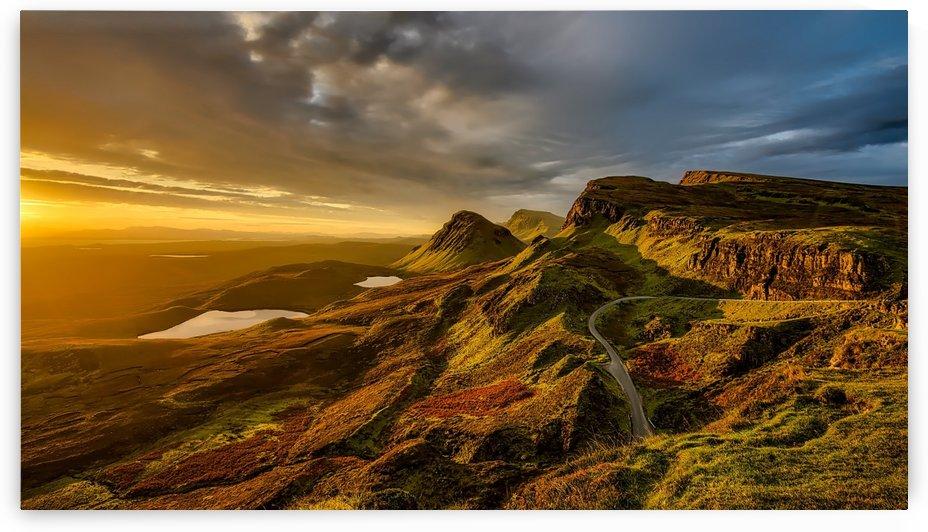scotland landscape mountains hills by Shamudy