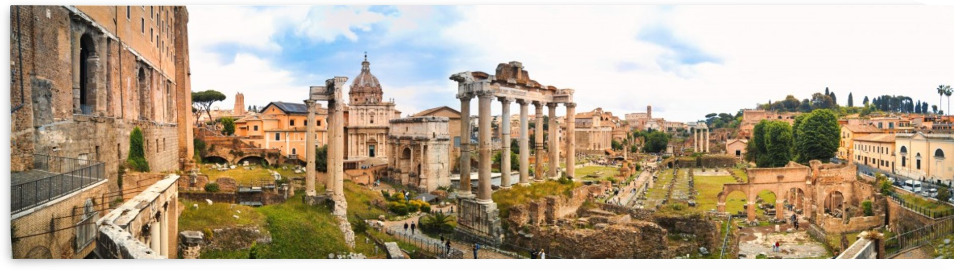 Roman Forum Panoramic view from Capitoline Hills by Pixelme ca