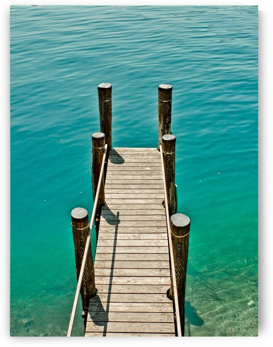 Wooden pier on the Lake Orta Italy by Pixelme ca