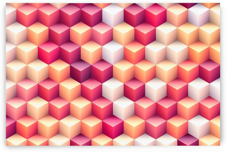 Colorful Cubes I by Art Design Works