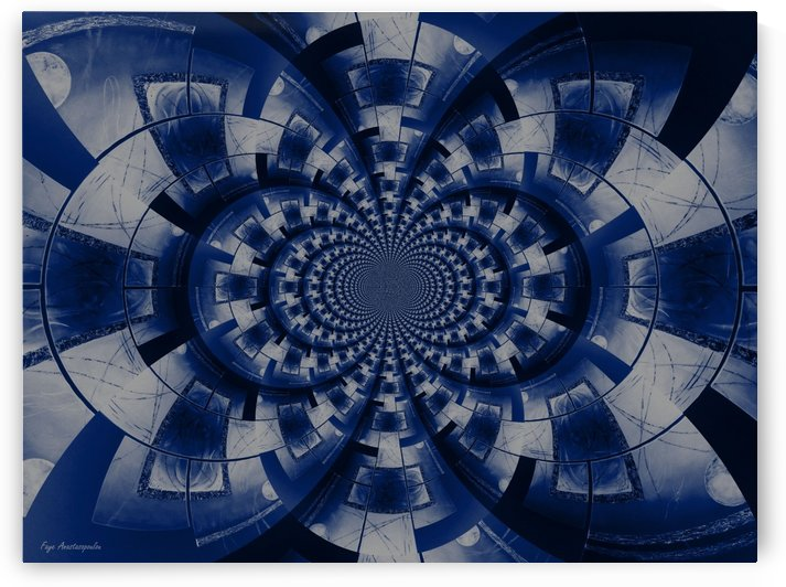 Graphic Ornamental Indigo by Faye Anastasopoulou