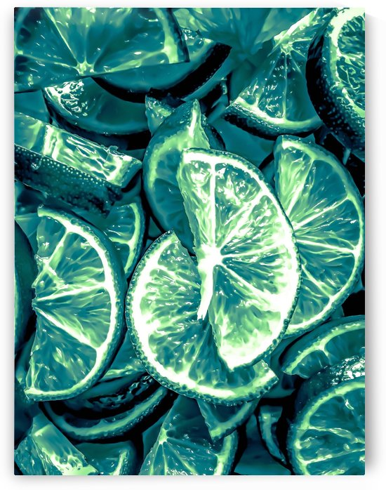 closeup slices of lime background by TimmyLA