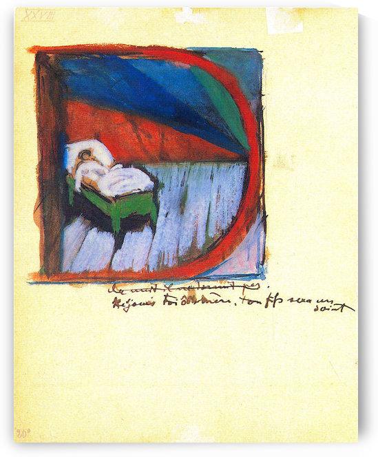 Vignette D by Franz Marc by Franz Marc