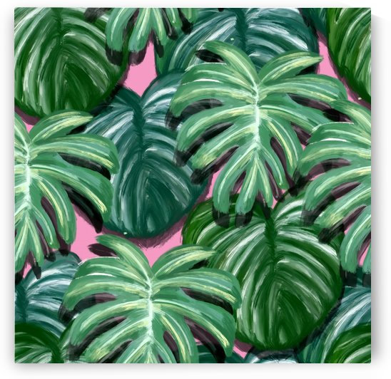 painting leaves tropical jungle by Shamudy