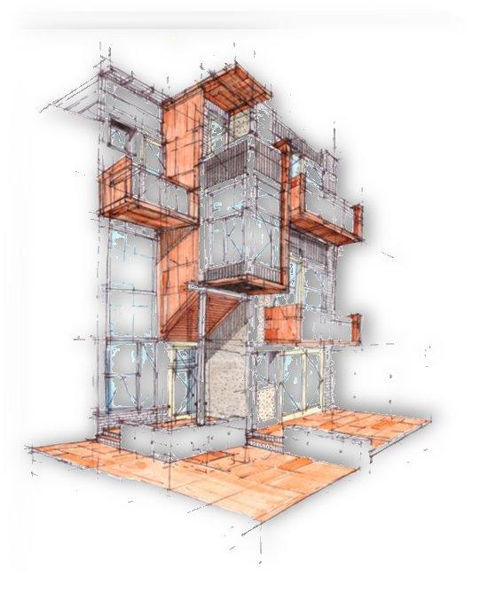 rag flats onion flats llc architecture drawing graffiti architecture by Shamudy