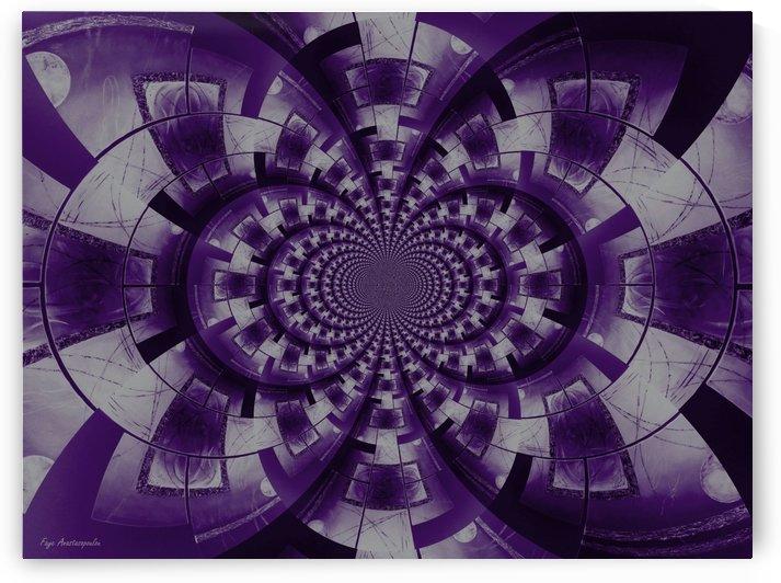 Graphic Ornamental Purple by Faye Anastasopoulou