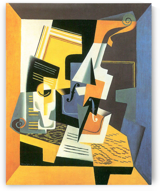 Violin and Glass by Juan Gris by Juan Gris
