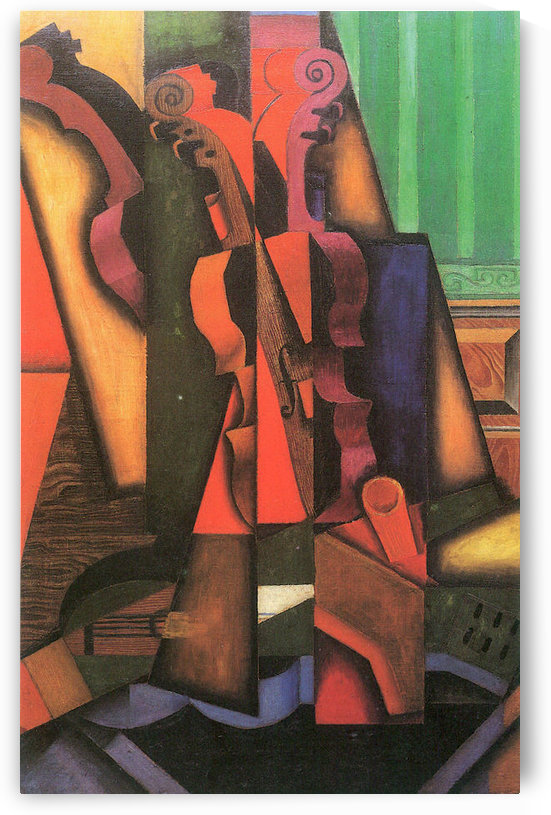 Violin and guitar by Juan Gris by Juan Gris
