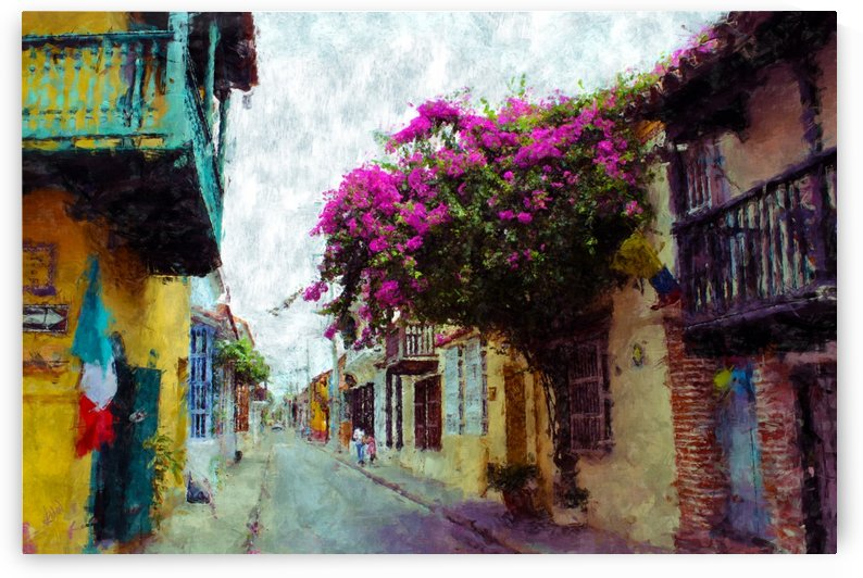 Old Cartagena Columbia by Kurt Van Wagner