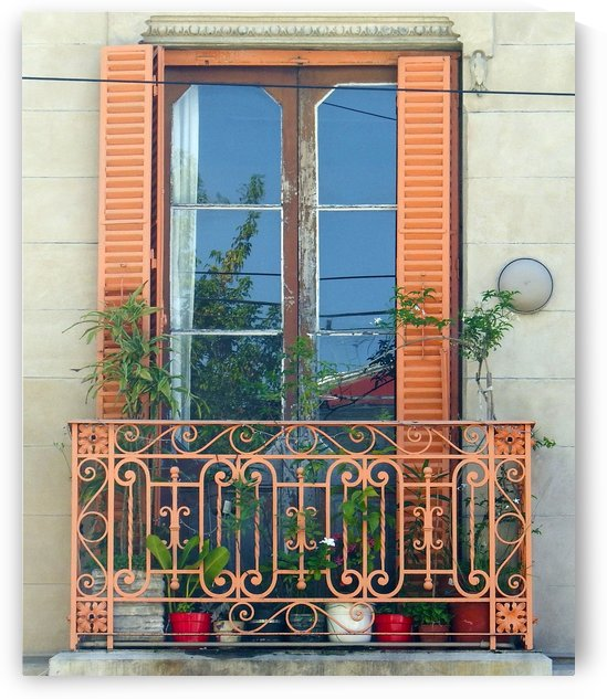 The Orange Balcony Window Buenos Aires by Kurt Van Wagner