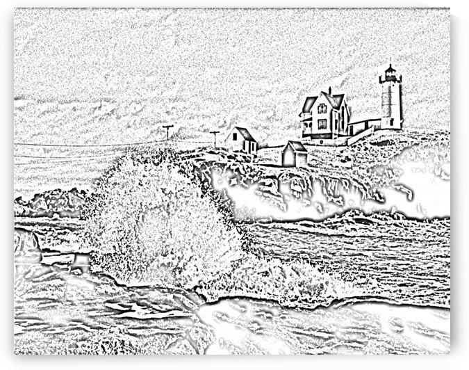 NubbleLight Cape Neddick Master Storm by FoxHollowArt